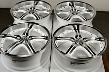 18 5x114.3 5x100 White Wheels Fits Lancer MX5 Sebring Avenge Infiniti RSX Rims