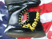 Black Dr Martens with yellow logo Size 3     (Jun15)