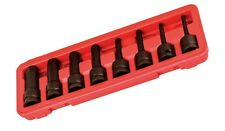 "1/2"" DRIVE DR BLACK SAE STANDARD HEX KEY ALLEN WRENCH BIT SET FOR IMPACT WRENCH"