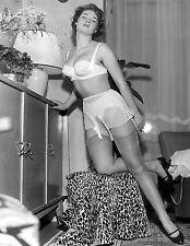 1950s Nude Pinup Silk Panties & Garter Stockings  8 x 10 Photograph
