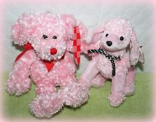 *Nwt* Set Of 2 Pink Plush Dogs Ty Poodle