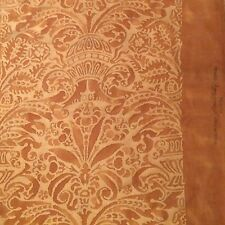 FORTUNY Campanelle rembrandt rust straw silvery gold cotton Italy new remnants
