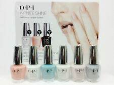 OPI Infinite Shine Nail lacquer-- Set of 6 Soft Shades IS L31- IS L36- .5oz/15mL