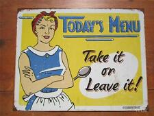 Classic Distressed Metal Restaurant Diner Kitchen Sign Funny Quote Wall Picture