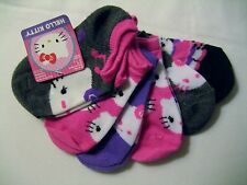 6 PAIR HELLO KITTY GIRLS NO-SHOW SOCKS SHOE SIZE 4-7.5
