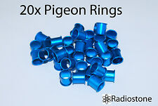 Pigeon Rings Aluminum Rings For Pigeons 20 pcs Blue. US Seller