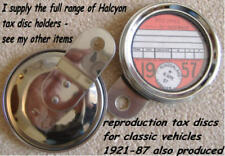 HALCYON 273 TAX DISC DISK HOLDER STAINLESS STEEL BACK CHROMIUM PLATED STEEL RIM