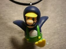 Penguin Luigi Super Mario Brothers Figure Charm Necklace Collectible Jewelry