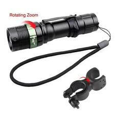 CREE XML T6  LED Bike Zoom Head Front Lights 6000 LM+360 Degree Bicycle Clamp TR