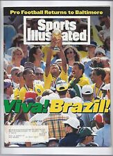 1994 Sports Illustrated Magazine July 25th Brazil win FiFa World Cup