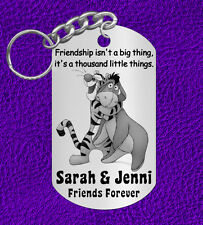 New Tigger & Eeyore BEST FRIENDS Keychain Gift, Personalized w' NAMES!