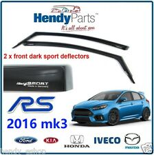 New! GENUINE FORD FOCUS RS 2016 MK3 CLIMAIR WIND AIR DEFLECTORS DARK TINT