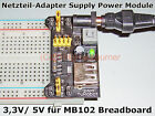 1x Netzteil-Adapter Supply Power Module Adapter 3,3V/ 5V für MB102 Breadboard