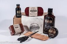 Beard Grooming Kit Men Care Oil Essential Balm Wax Comb Brush Conditioner Wash