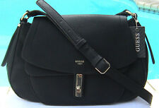 New! GUESS KINGSLEY CROSS-BODY PVC BLACK BAG NWT $110