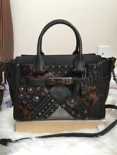 Coach 55503 Embelished Canyon Quilt Coach Swagger 27 Black Genuine Leather $ 695