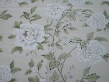 "SANDERSON  FABRIC REMNANT ""PEONY TREE "" 51 X 145 CM LINEN BLEND"