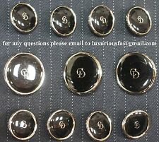 Christian Dior Silver Metal Blazer Buttons Set