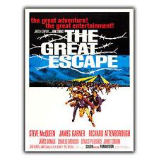 La grande fuga di Metallo Segno Piastra a parete Film Movie Cinema Pubblicità Poster stampati