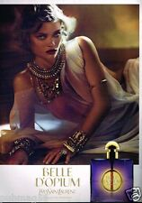 Publicité advertising 2010 Parfum Belle d'Opium par Yves Saint Laurent