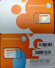 AT&T OEM NANO 4G LTE sim card   NEW UNACTIVATE, FOR ALL IPHONES./IPAD.  3IN1