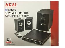 Akai Compact DVD Player With 50W Multimedia Speaker System New*