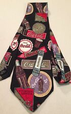 Coca Cola  Coke Advertising Silk Mens Necktie Neck Tie Fountain Service VTG Sign