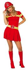 Ladies Sexy Red Firefighter Fireman Firewoman Fancy Dress Costume Outfit 14-18