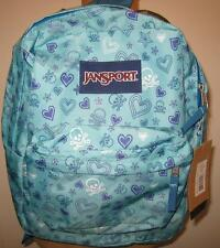 NEW JANSPORT Superbreak Backpack Daypack School Book Bag NWT Skulls Hearts Stars