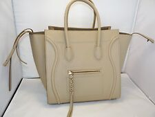 CELINE MEDIUM LUGGAGE PHANTOM TOTE IN BEIGE CALFSKIN LEATHER MSRP 3200.00 NWT