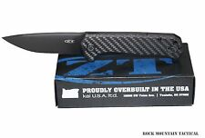 ZT 0804CF ZERO TOLERANCE REXFORD CARBON FIBER FLIPPER CTS-204P STEEL DLC KNIFE