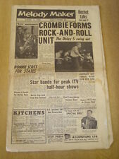 MELODY MAKER 1956 AUGUST 4 TONY CROMBIE RONNIE SCOTT DICKIE VALENTINE TED HEATH