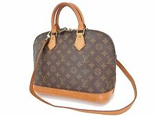 Authentic LOUIS VUITTON Alma Monogram 2-Way Hand Shoulder Bag Purse #23677