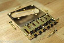 TOG FENDER AM STD STYLE TELE TELECASTER BRIDGE GOLD WITH SCREWS