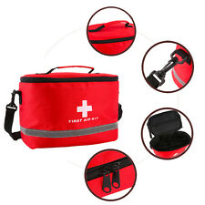 Large Red Nylon Ripstop First Aid Kit Bag Outdoors Sports Home medical