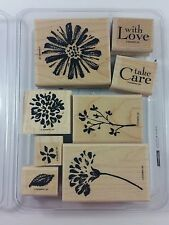 Stampin' Up! LOVE & CARE Wood Mount Flowers Two-Step Watercolor