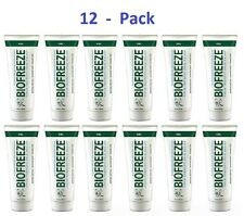 12 Pack -NEW Biofreeze Pain Relief Gel 4oz Tube Cold Therapy Original Green