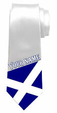 SCOTLAND SCOTTISH FLAG PERSONALISED NECK TIE *ANY NAME/TEXT * GREAT MEN'S GIFT*