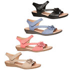 HUSH PUPPIES DALLAS WOMENS/LADIES SOFT LEATHER COMFORTABLE SANDALS/SHOES