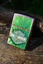 Zippo Lighter - Harley Davidson - H-D Flaming Barbed Wire - Bar and Shield 24031
