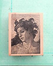 Toybox * Male Statue Portrait Man People Face Greek Roman History Rubber Stamp