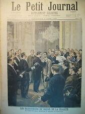 BAZAR DE LA CHARITE LES SAUVETEURS  JUSTICE ENFANT MARTYR LE PETIT JOURNAL 1897