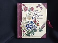 CLB Floral Elegance Photograph Album Features Drawings by JW London Holds 28 Pho