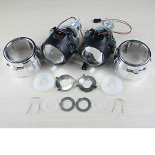 "2x 2.5"" Mini HID Bi-xenon Projector lens Kit HID Headlight Shroud USA Fast Ship"
