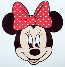MINNIE MOUSE COLOUR VINYL STICKER, For Car, Wall, Laptop, Ipad (13.5 x 14cms)