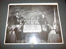 SARDEGNA Grande Fotografia Illusionista Sardo BOICCU/Boiuccu 1951 Magia dialetto