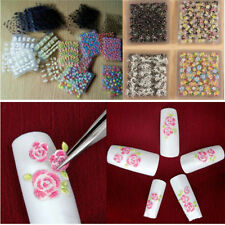 50 Sheet Flower 3D Nail Art Transfer Stickers Decals Manicure Decoration Tip DIY