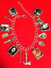 Horror Monsters Charm Bracelet - Chucky, Scream, Freddy Krueger, Jason...etc