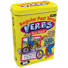 Regular Past Tense Verbs Flash Cards Super Duper Fun Deck Grammar Speech ESL