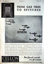 1941 CELLON Wartime Aircraft Paint Finishes Ad - WW2 Spitfire Photo Print Advert